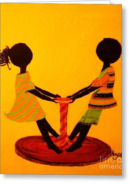 Young Love-twirling Greeting Card