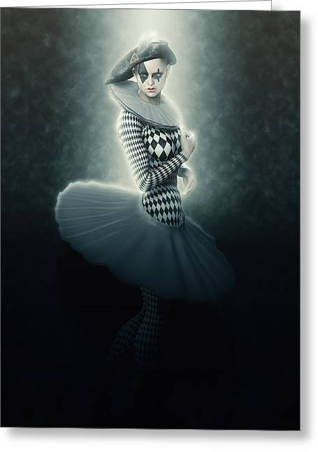 Young Lunar Pierrette Greeting Card by Joaquin Abella