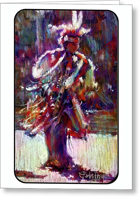 Young Male Fancy Dancer In Full Regalia Greeting Card