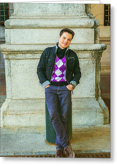 Young Man Casual Fashion In New York 15042519 Greeting Card