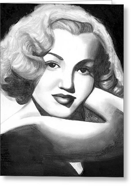 Young Marilyn Greeting Card by Scarlett Royal