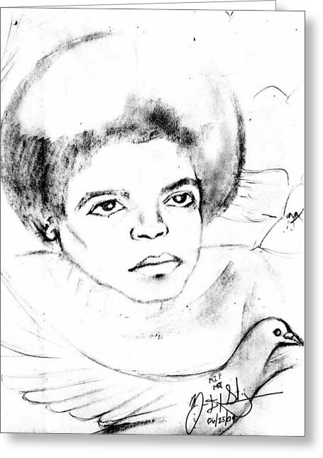Young Micheal Jackson  Greeting Card by HPrince De Artist