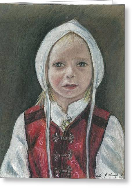 Young Norwegian Girl            Greeting Card