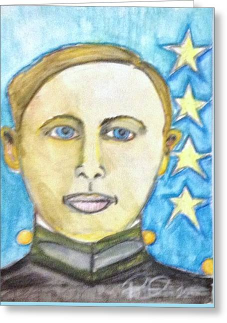 Young Patton Greeting Card by Regina Jeffers