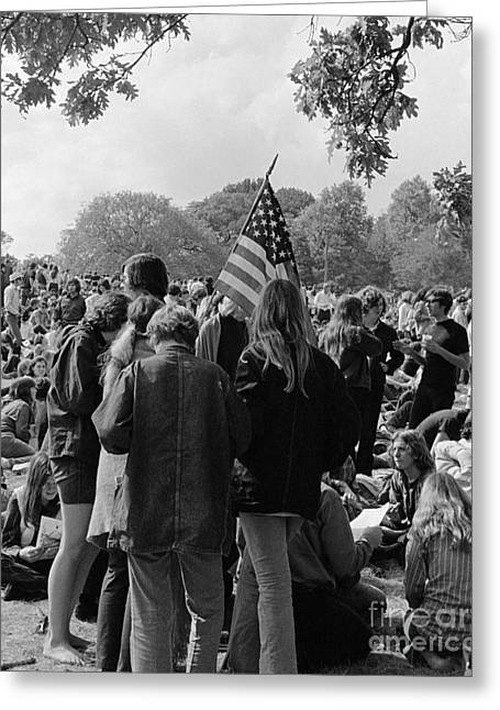 Young People At A Demonstration, C.1970s Greeting Card by H. Armstrong Roberts/ClassicStock