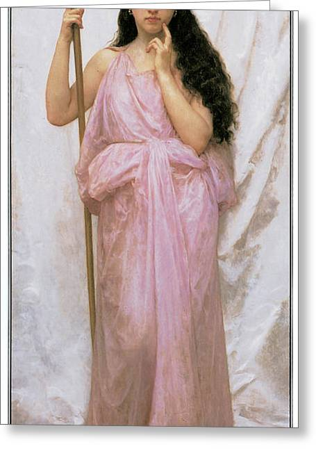 Adolphe Greeting Cards - Young Priestess Greeting Card by Adolphe William Bouguereau