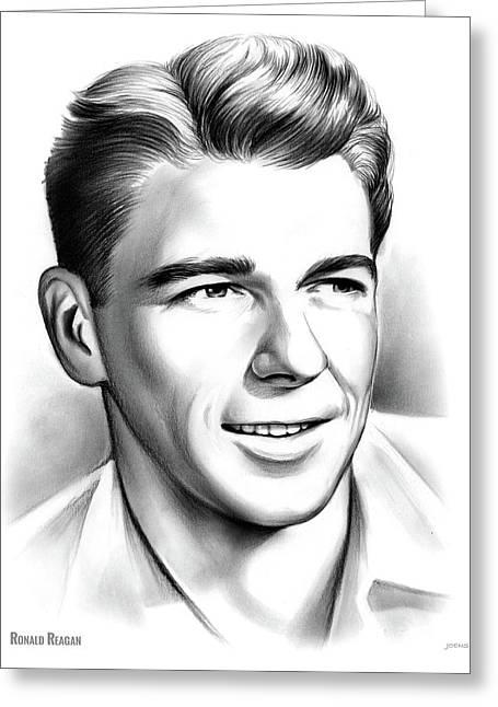 Young Reagan Greeting Card
