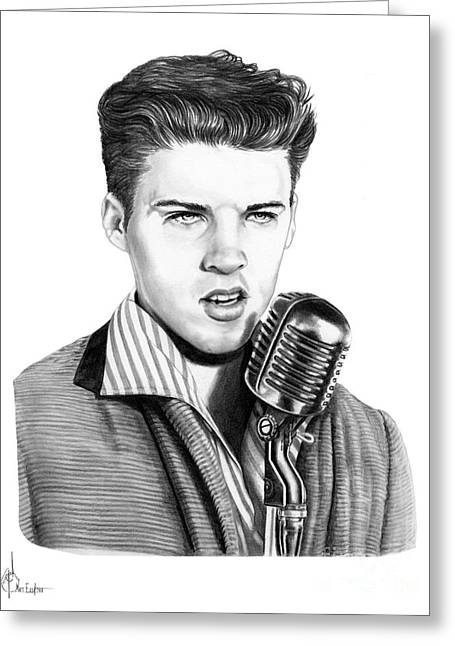 young Ricky Nelson Greeting Card