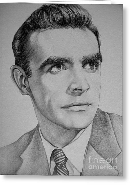 Young Sean Connery Greeting Card by Jeffrey Samuels
