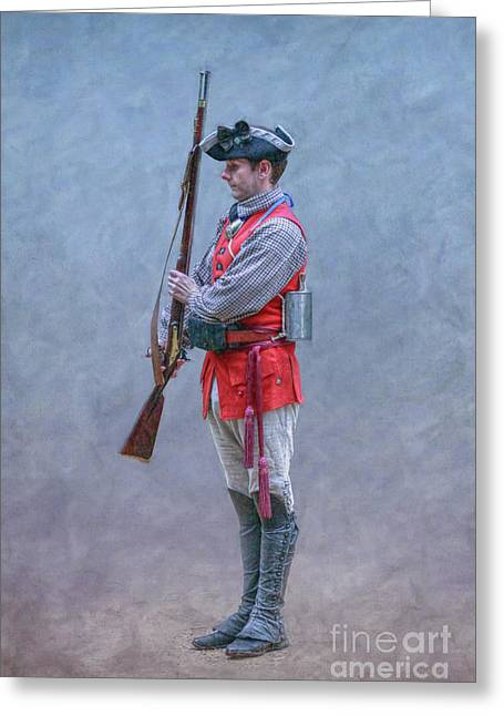 Greeting Card featuring the digital art Young Soldier With Rifle by Randy Steele
