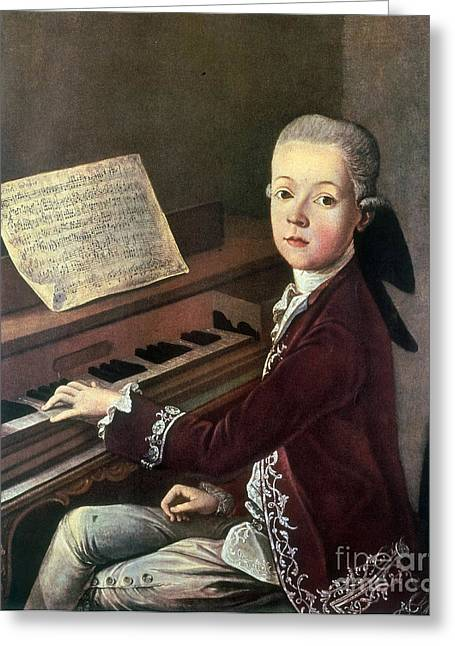 Young Wolfgang Amadeus Mozart Greeting Card by Science Source