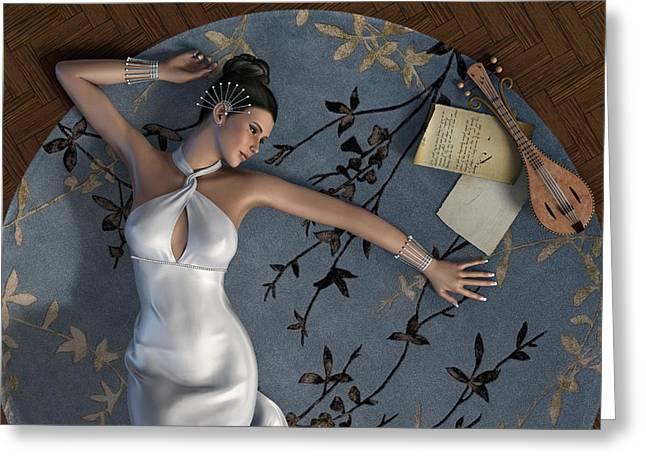 Young Woman Greeting Card by Fabiana Kofman
