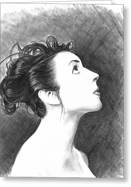 Young Woman Greeting Card by Ryan Jones