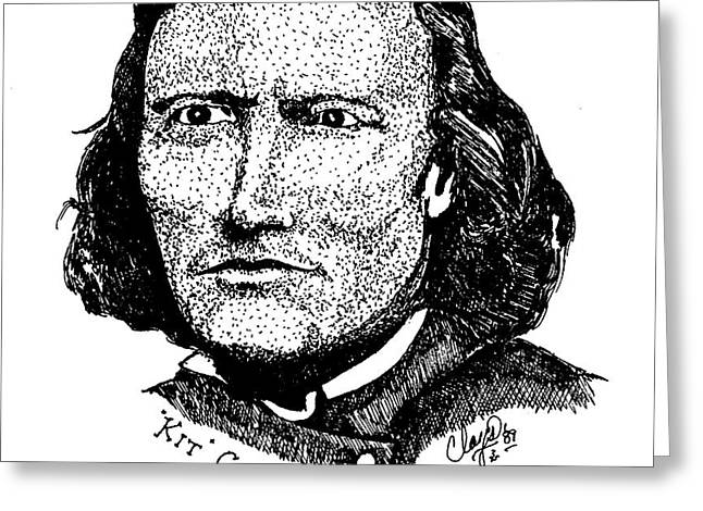 Younger Kit Carson Greeting Card by Clayton Cannaday