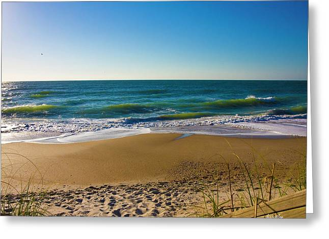 Your Beach Is Calling Greeting Card by Betsy Knapp