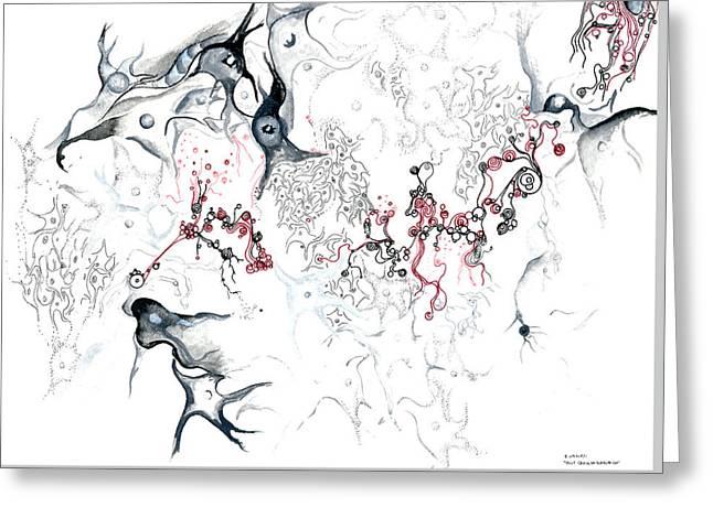 Your Brain On Surrealism Greeting Card by Regina Valluzzi