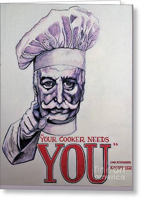 Your Cooker Needs You Greeting Card