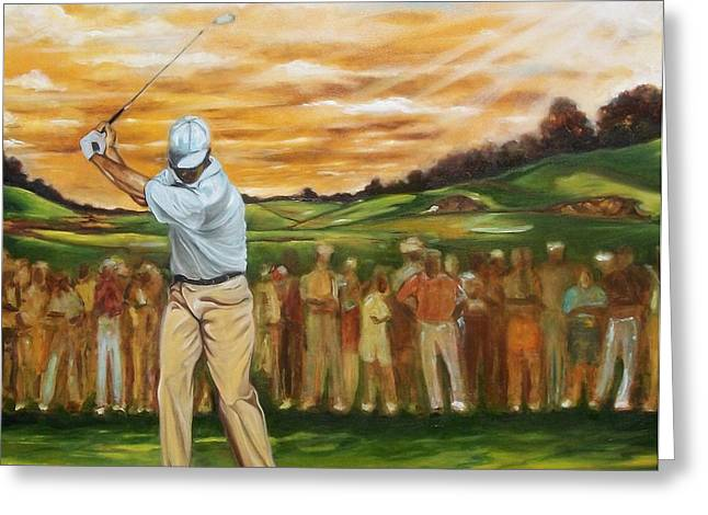 Greeting Card featuring the painting Your Golf by Emery Franklin