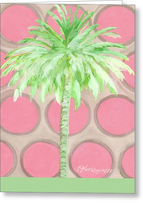 Your Highness Palm Tree Greeting Card by Kristen Abrahamson