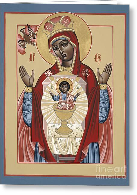 The Black Madonna Your Lap Has Become The Holy Table 060 Greeting Card