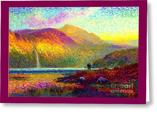 Your Love Colors My World, Modern Impressionism, Romantic Art Greeting Card by Jane Small