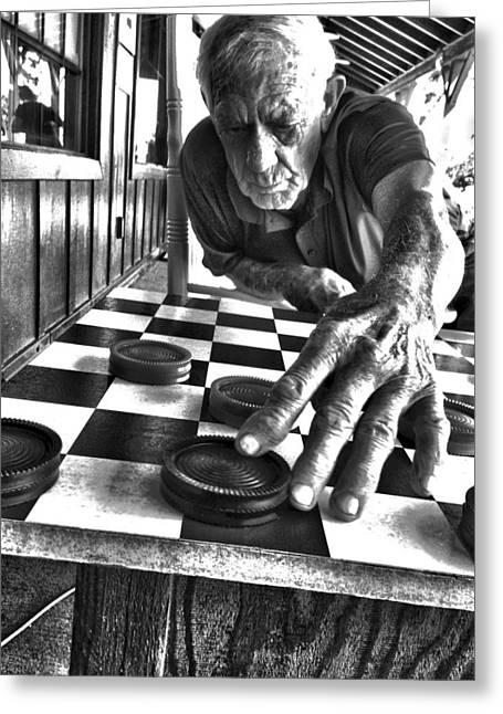 Your Move Dad Bw Art Greeting Card