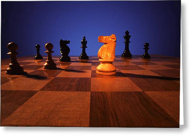 Your Move Greeting Card by Gerard Fritz