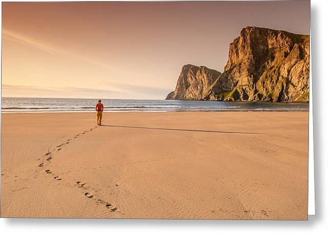 Your Own Beach Greeting Card by Alex Conu