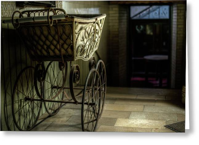 Your Pram Awaits Greeting Card by Nathan Wright