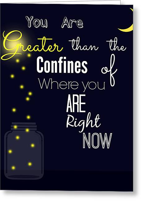 You're Greater Typography Word Art Greeting Card