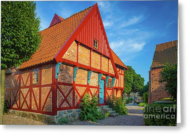 Ystad Old House Greeting Card by Inge Johnsson