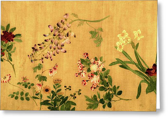 Yuan's Hundred Flowers Greeting Card