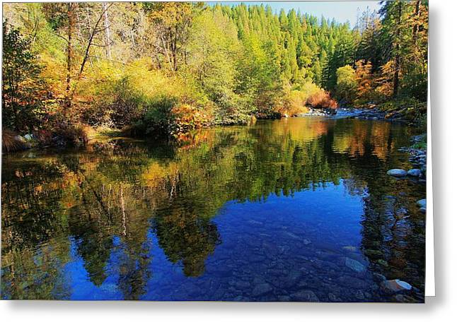 Yuba In Autumn Greeting Card by Sean Sarsfield