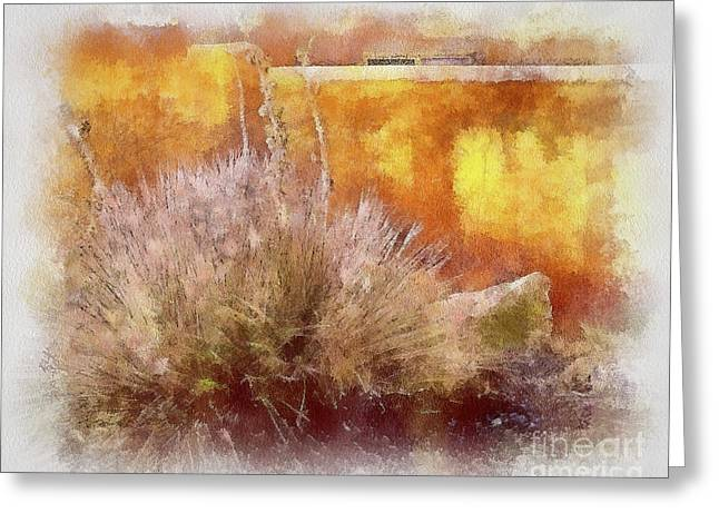 Yucca And Adobe In Aquarelle Greeting Card