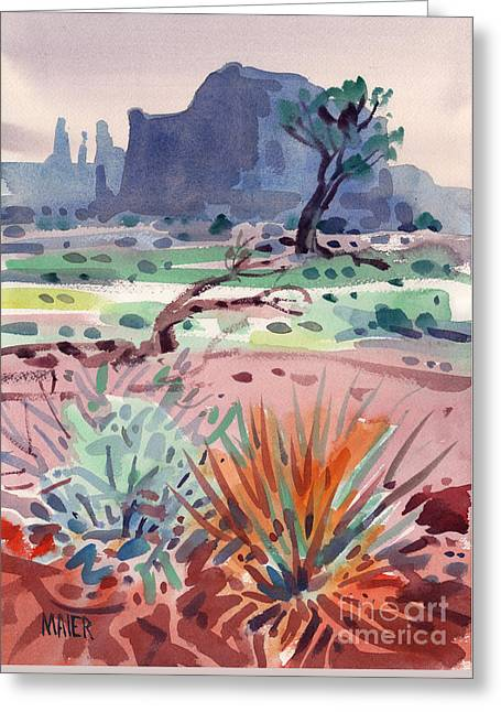 Yucca And Buttes Greeting Card by Donald Maier