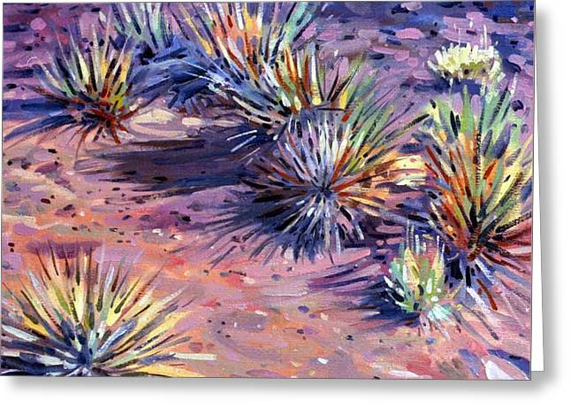 Yucca In Monument Valley Greeting Card by Donald Maier