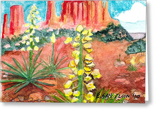 Yucca In Monument Valley Greeting Card by Eric Samuelson