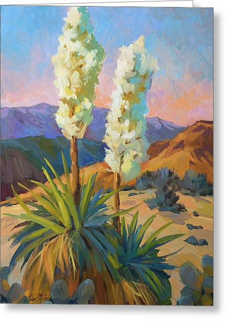 Yuccas Greeting Card by Diane McClary