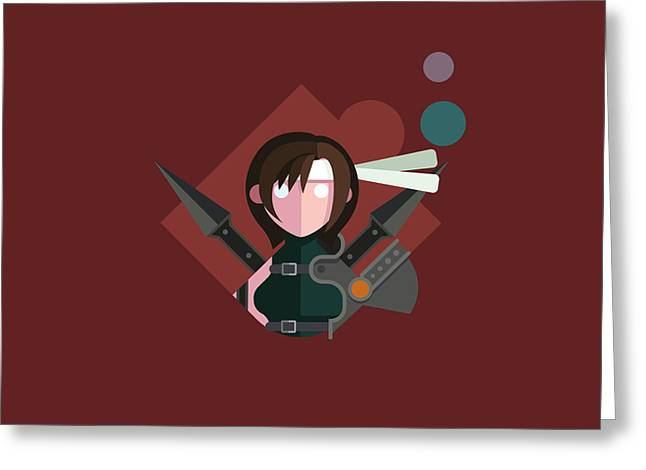 Greeting Card featuring the digital art Yuffie by Michael Myers