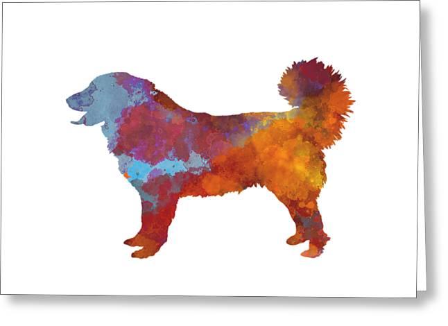 Yugoslavian Shepherd Dog In Watercolor Greeting Card by Pablo Romero