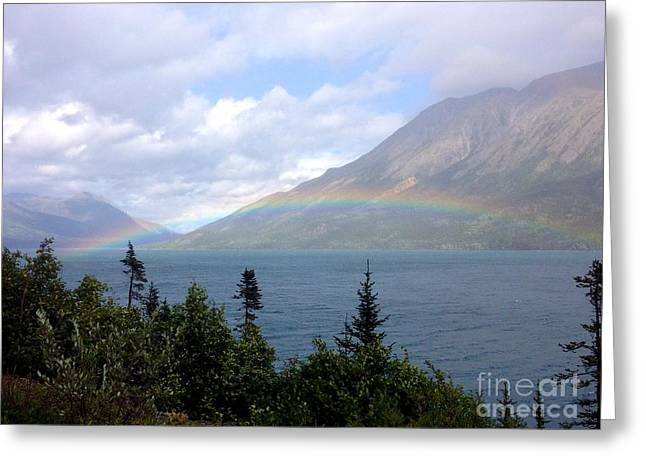 Yukon Rainbow Greeting Card