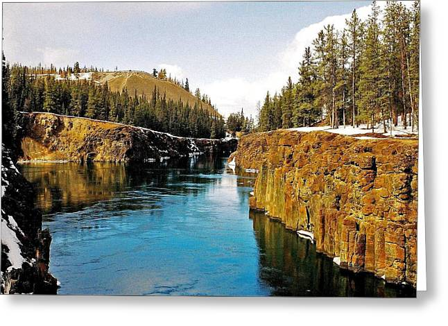 Yukon River And Miles Canyon - Whitehorse Greeting Card by Juergen Weiss