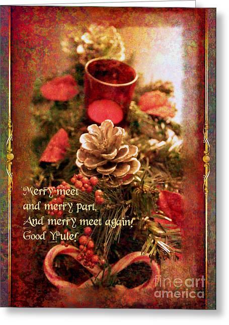 Greeting Card featuring the digital art Yule Greetings 2017 by Kathryn Strick