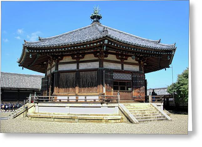 Nara Greeting Cards - YUMEDONO HALL of DREAMS - NARA JAPAN Greeting Card by Daniel Hagerman