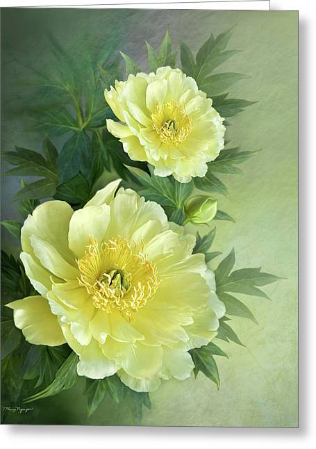 Greeting Card featuring the digital art Yumi Itoh Peony by Thanh Thuy Nguyen