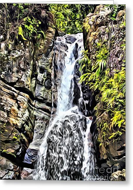 Yunque Waterfall Greeting Card