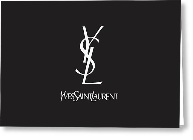 Yves Saint Laurent - Black And White 02 Greeting Card by Alta Vita