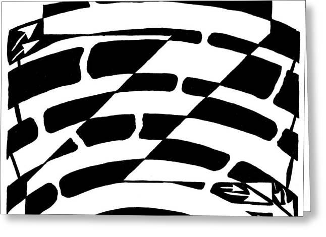 Z Maze Greeting Card by Yonatan Frimer Maze Artist