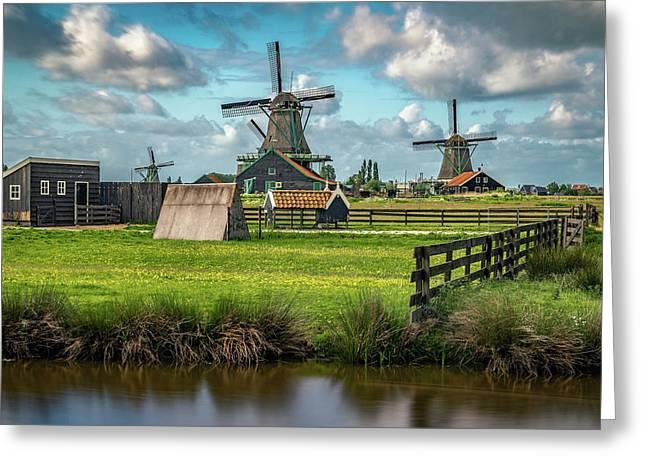 Zaanse Schans And Farm Greeting Card
