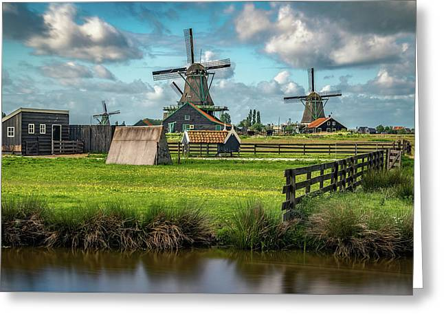 Zaanse Schans And Farm Greeting Card by James Udall